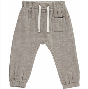 Gauze Jogger Pants in Taupe