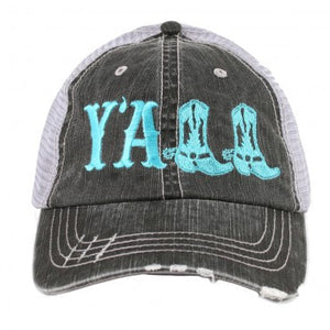 Y'all Trucker Hat- Mint
