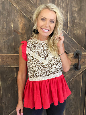Cheetah Print Sleeveless Top