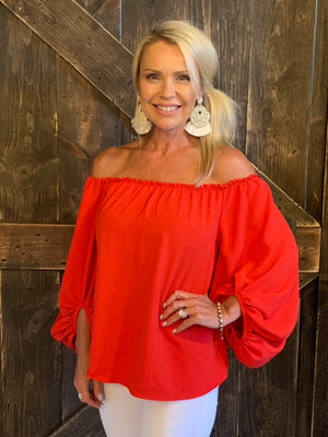 Off Shoulder Top with Dolman Sleeves