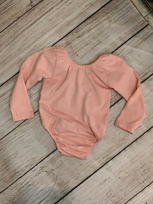 Low Back Long Sleeve Onesie in Pink