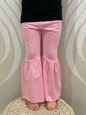 Bell Bottom Pants in Pink