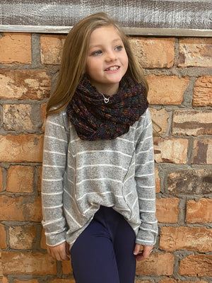 CC Kids Cable Knit Infinity Scarf