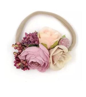 Berry & Floral Nylon Headband