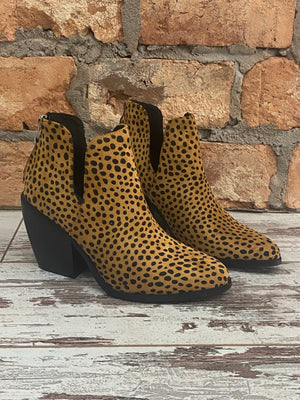 Cheetah Cutout Ankle Bootie