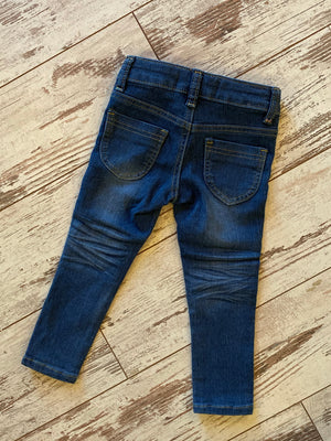 Star Knee Patch Jean in Medium Wash