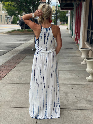 Halter Tie Dye Maxi Dress