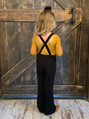 Bell Bottom Jumpsuit in Black