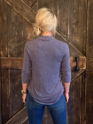 Mineral Washed Top with Keyhole