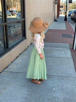 Chiffon Maxi Skirt in Sage