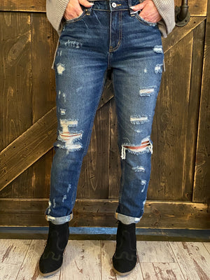 Destroyed Cuffed Girlfriend Jeans
