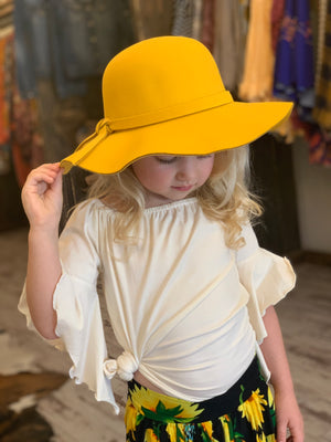 Floppy Hat in Mustard