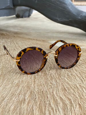 Kids Round Hippie Sunglasses - Tortoise