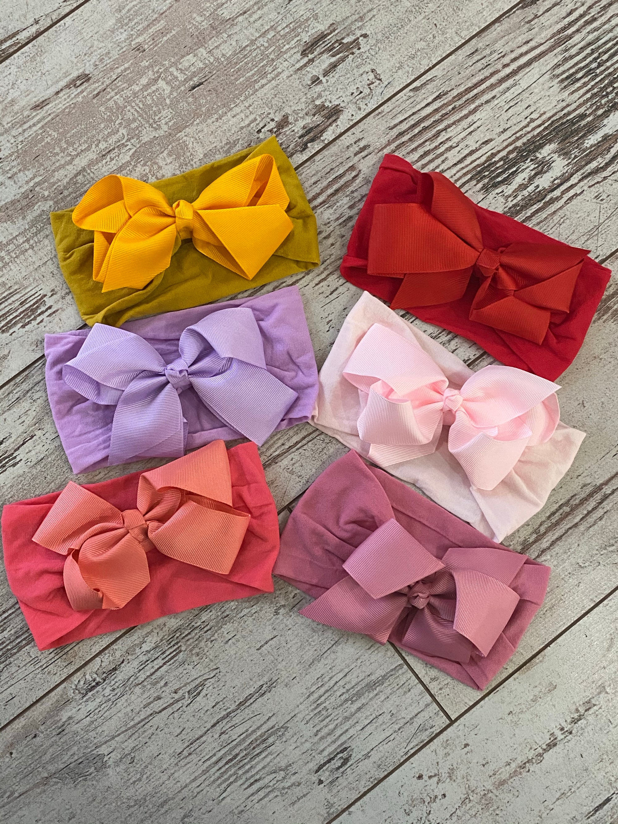 Nylon Big Bow Headband