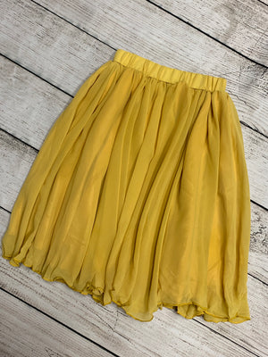 Chiffon Maxi Skirt in Mustard