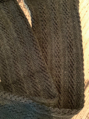 Cable Knit Tights in Black