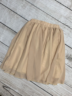 Chiffon Maxi Skirt in Tan