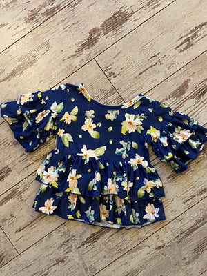 Tiered Ruffle Floral Top