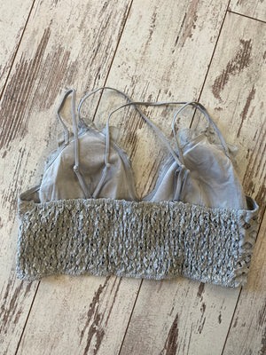 Scalloped Lace Bralette in Grey
