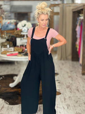 Wide Leg Overall Jumpsuit