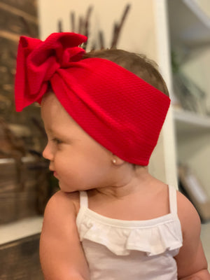 Big Bow Textured Headband - 7 Colors