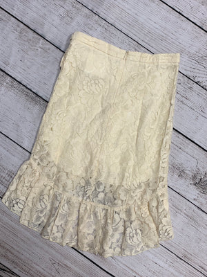 Lace Skirt with Side Tie in Ivory