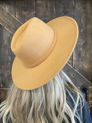 Wide Brim Panama Hat - Light Khaki