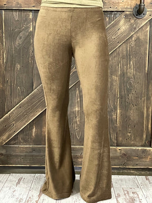Corduroy Bell Bottom Pants in Brown