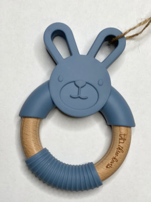 Bunny Silicone & Wooden Teether