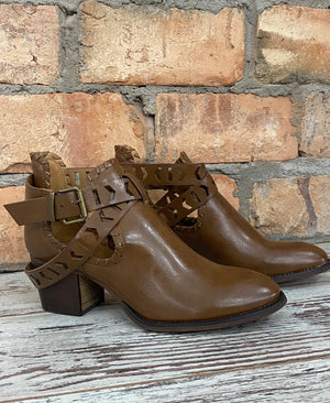 Belted Cutout Ankle Bootie