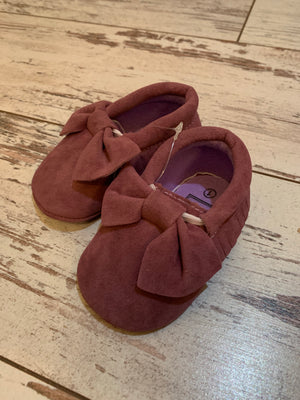 Slip On Moccasin with Bow in Purple