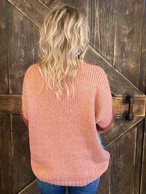 Striped Multicolor Knit Sweater