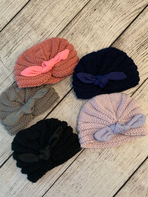 Infant Beanie with Bow