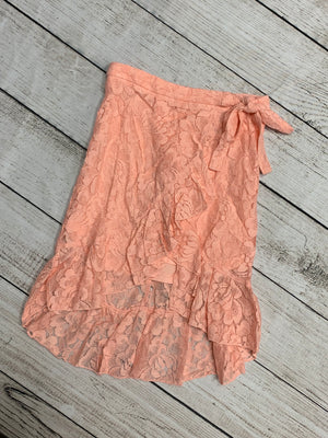 Lace Skirt with Side Tie in Pink
