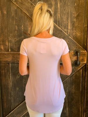 Cap Sleeve Basic Top in Lavender