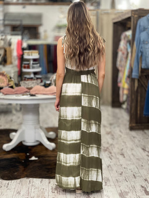 Smocked Tie Dye Maxi Dress