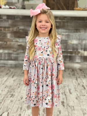Floral Printed Ruffle Babydoll Dress