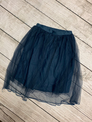 Tulle Maxi Skirt in Navy
