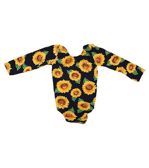 Sunflower Leotard with Low Back