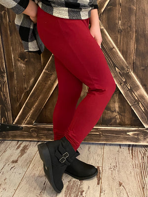 Leggings in Burgundy