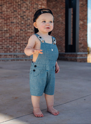 Blue Shortie Overalls