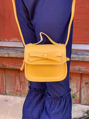 Crossbody Adjustable Strap Purse in Mustard