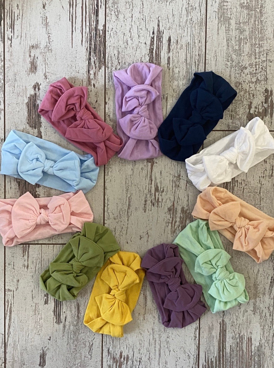 Nylon Bow Headband - Variety