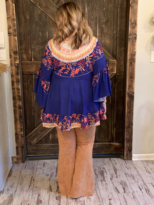 Oversized Floral Tunic Top