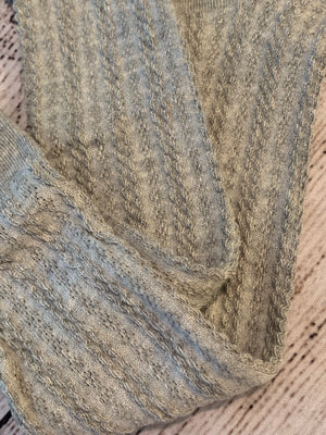 Cable Knit Tights in Grey