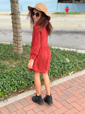 Knit Babydoll Sweater Dress