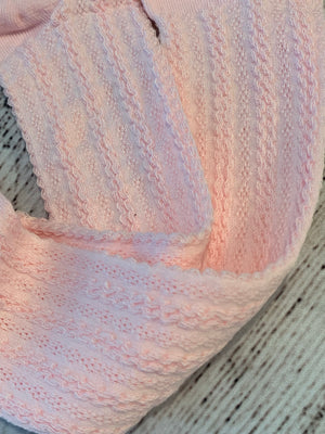 Cable Knit Tights in Pink