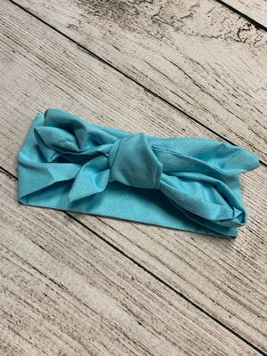 Adjustable Head Wrap in Aqua