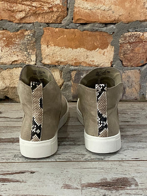 Faux Suede Sneakers in Taupe