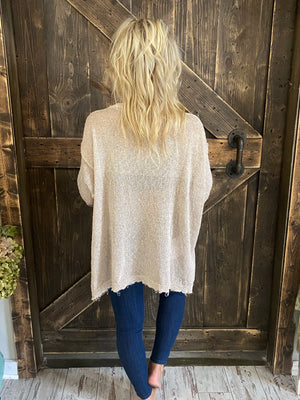 Slouchy Fit Knitted Sweater - Khaki